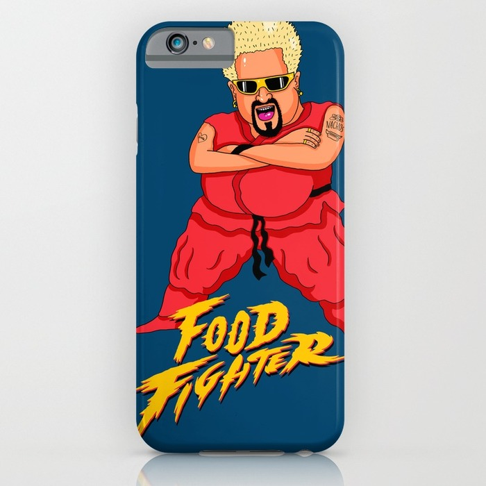 Guy Fieri phone case street fighter style, 20 Phone Cases for Foodies list