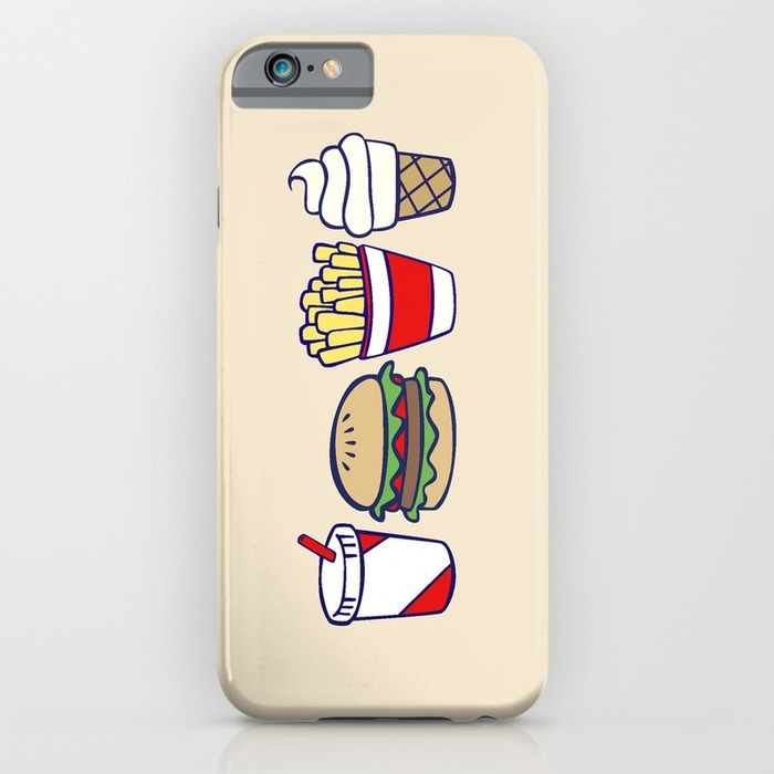 Fast food icons phone case, 20 Phone Cases for Foodies list