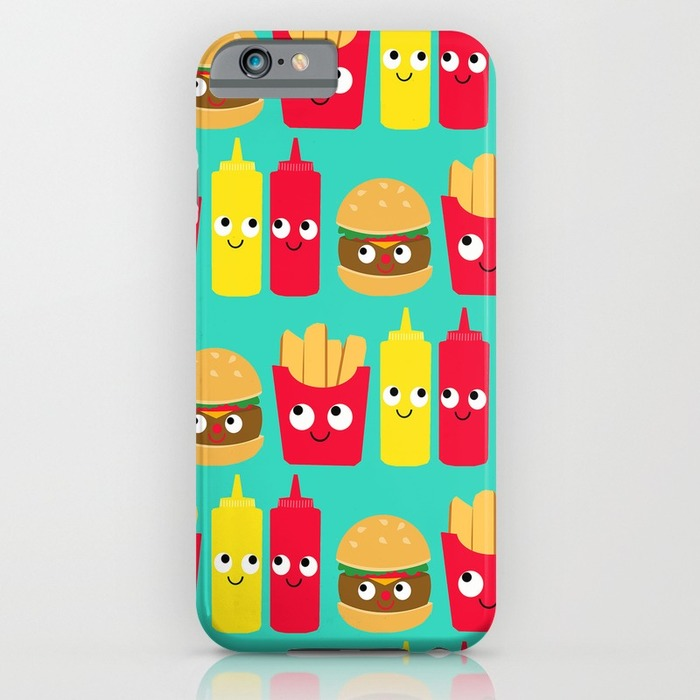 Hamburger ketchup phone case, 20 Phone Cases for Foodies list