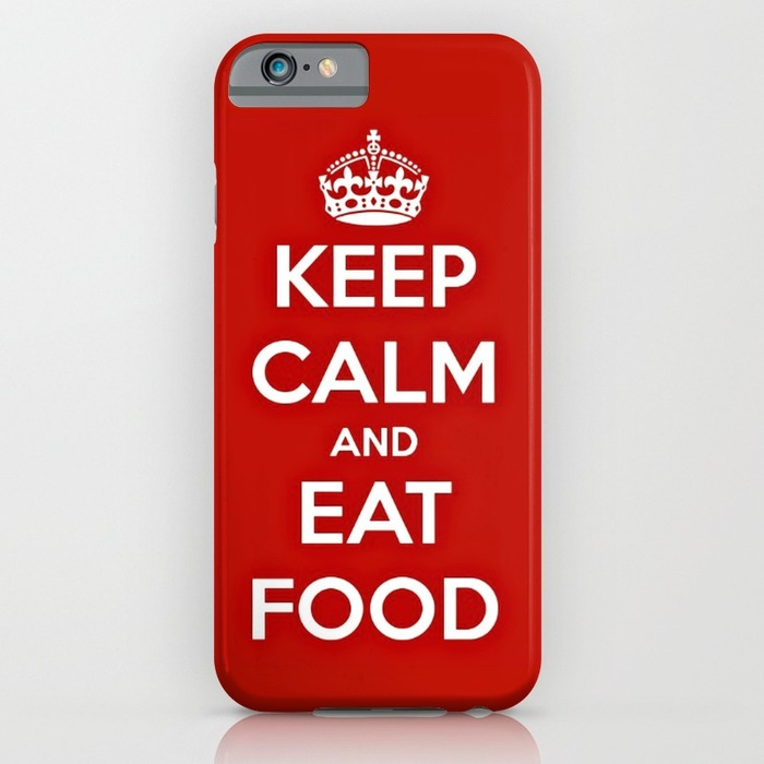 Keep calm and eat food phone case, phone cases for foodies list