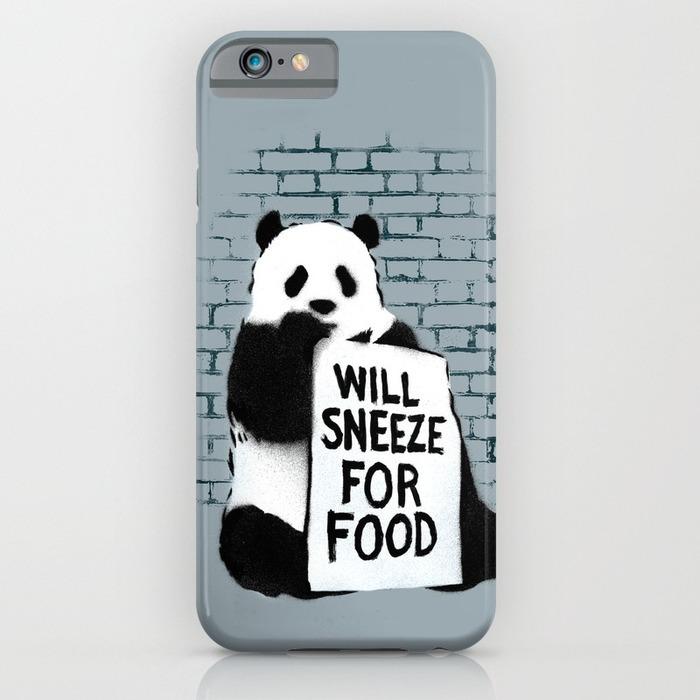 Banksy panda phone case