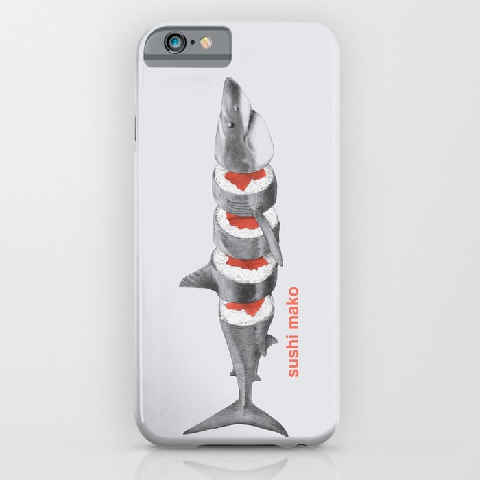Shark sushi phone case, phone cases for foodies list