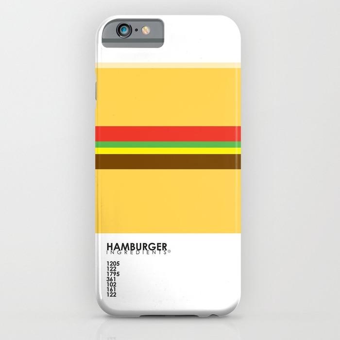 Minimalistic burger phone case