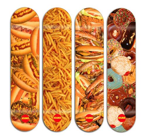 Skate decks for food lovers list