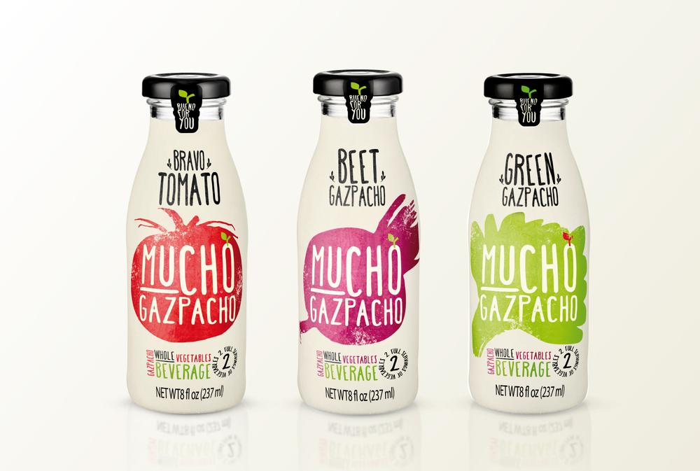 Gazpacho soup packaging design
