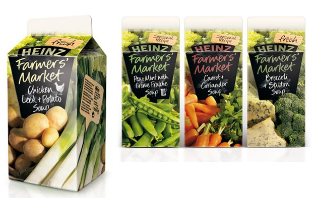 Heinz Farmers Market soup packaging