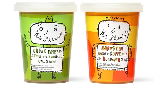 Playful soup packaging design in plastic, 15 Soup Packaging Designs