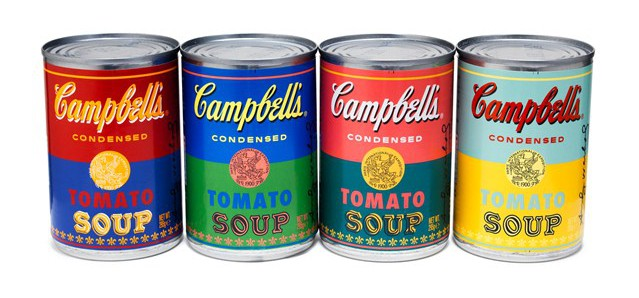Andy Warhol Soup packaging design, 15 Soup Packaging Designs