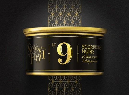 15 cool & luxurious gold food packagings, insects in gold packaging