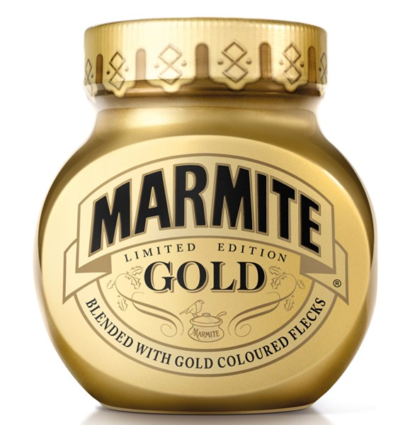 15 cool & luxurious gold food packagings, Marmite Limited Edition in Gold