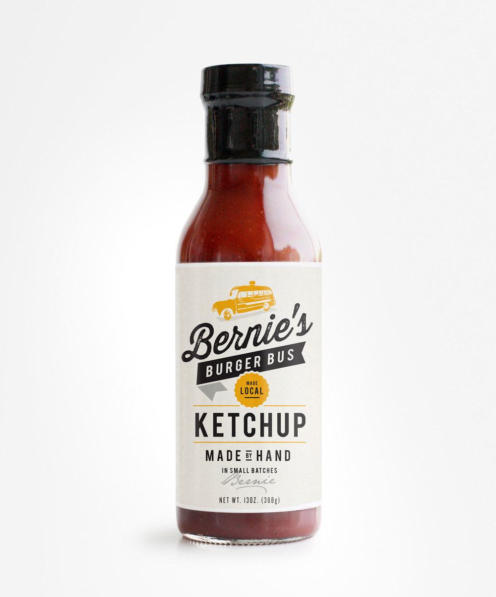 Ketchup Bottle Designs - Bernies Burger Bus Ketchup
