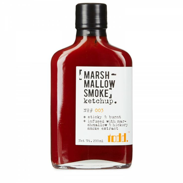 Ketchup Packaging Designs - Marshmallow smoke ketchup
