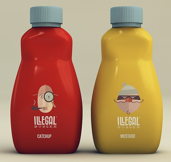Ketchup Bottle Designs - Illegal Burger
