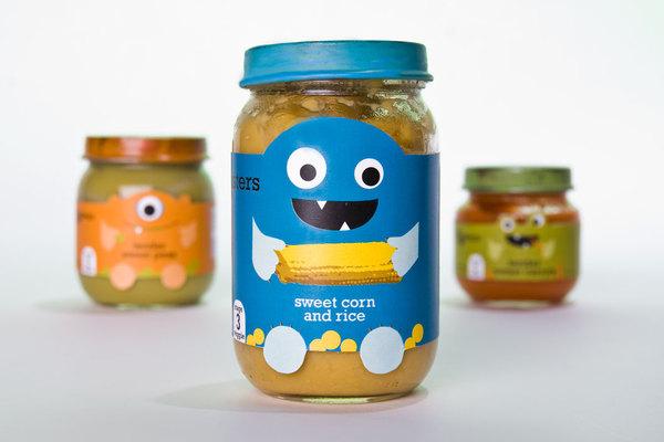 Baby food packaging, Cool Kids Food Packaging Designs