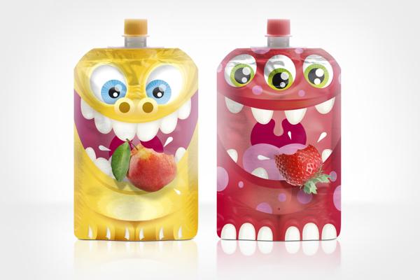 Fruit snack packaging, Cool Kids Food Packaging Designs