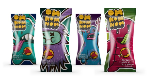 Meat snack packaging, Cool Kids Food Packaging Designs