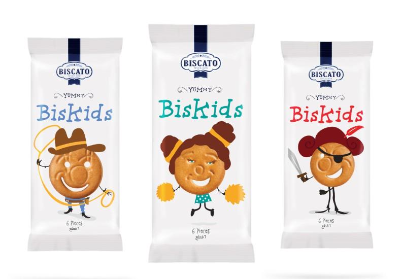 Biscato Biskids packaging, Cool Kids Food Packaging Designs