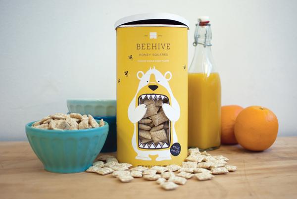 Beehive cereal packaging, Cool Kids Food Packaging Designs