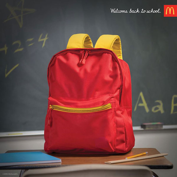 McDonald's Back to School ads, Backpack
