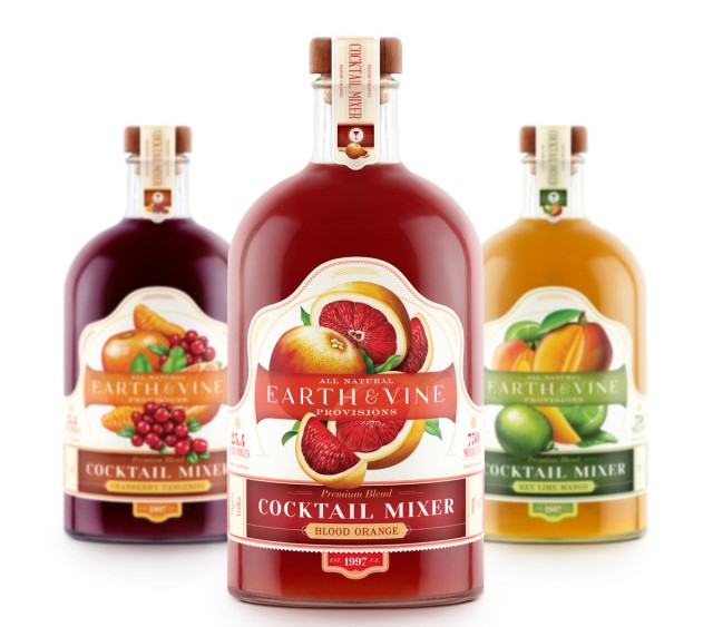 Earth Vine Cocktail Mixer Packaging, Food Packaging That Stands out like no other by Moxie Sozo