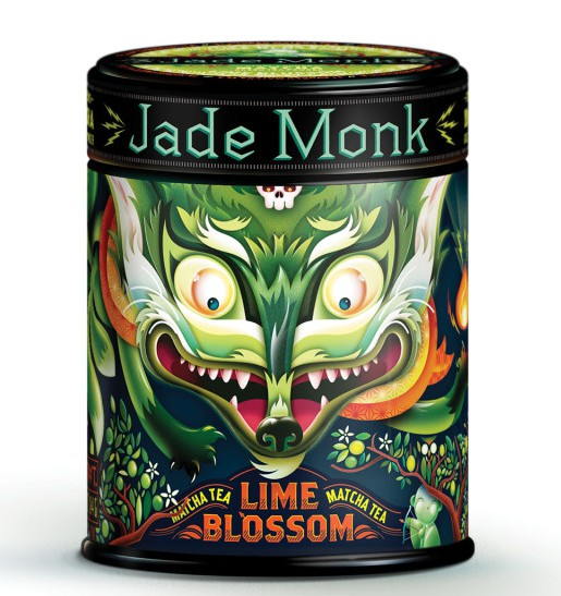 Jade Monk Matcha Tea, Food Packaging That Stands out like no other by Moxie Sozo