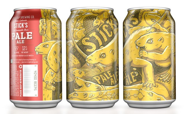 Sticks Pale Ale, Food Packaging That Stands out like no other by Moxie Sozo