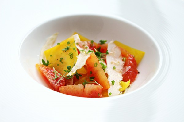 Blood orange, beet and fennel salad