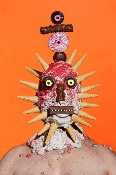 People covered in Junk Food