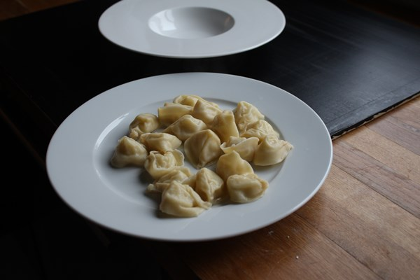 Tortellini with Jerusalem Artichoke and Black Truffle Filling