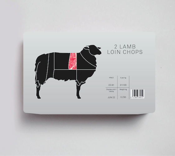 Meat Packaging Design with a Twist - check these out at Ateriet.com