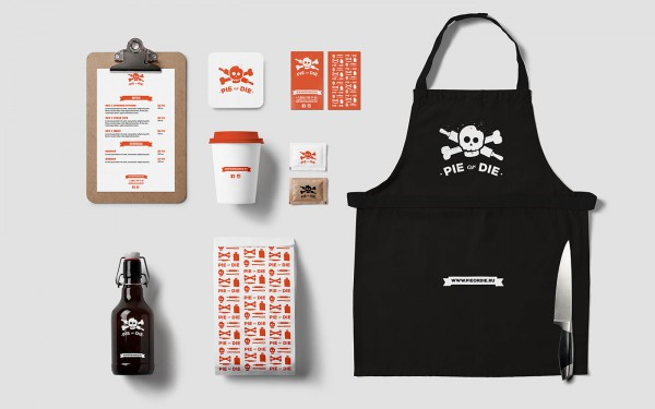 Cool skull branding for a Russian Fast Food Restaurant, see it at Ateriet.com