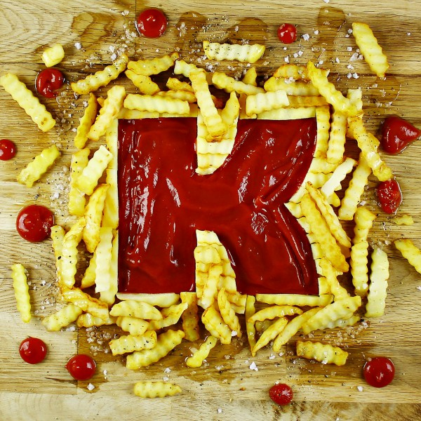 Food Letters Food Alphabet A to Z Food Food Typography