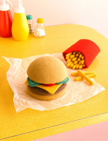 Knitted Food by artist Jessica Dance - Cool Food Art