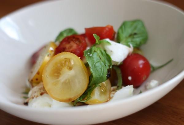 Mozzarella with Basil, Tomatoes and Wood Sorrel