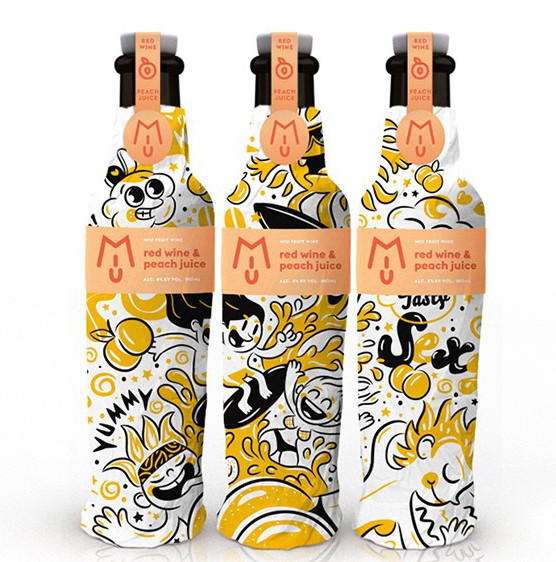 Miu Fruit Wine Packaging Design looks great, see it at Ateriet