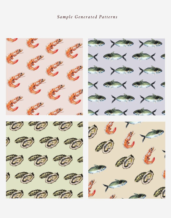 Cool Seafood Patterns by Stephanie Tan