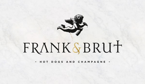 Frank and Brut Hot Dogs & Champagne Design