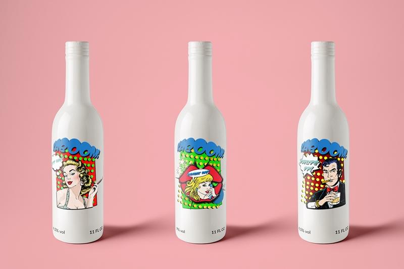 Super Cool Pop Art Beer Bottles Aterietateriet Food