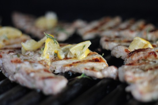 Grilled Pork Loin with Lemon and Herbs
