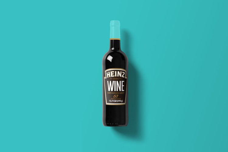 Branded Wine Bottles - if every brand had it's own wine, Heinz wine bottle