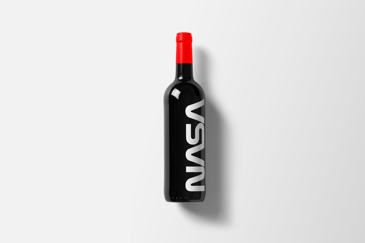 Branded Wine Bottles - if every brand had it's own wine, Nasa wine