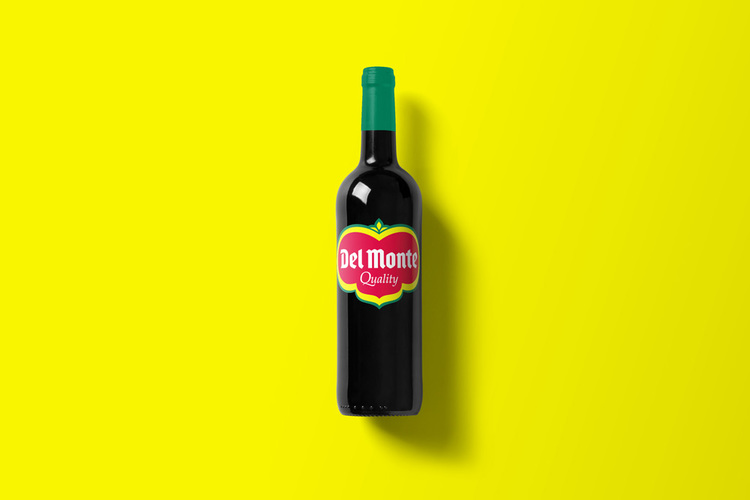 Branded Wine Bottles - if every brand had it's own wine, Del Monte wine bottle