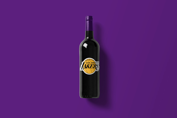 Branded Wine Bottles - if every brand had it's own wine, Lakers wine bottle