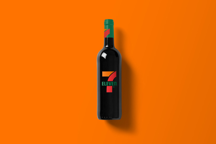 Branded Wine Bottles - if every brand had it's own wine, 7-11 wine bottle