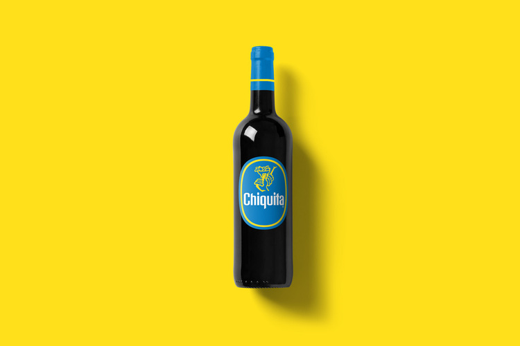 Branded Wine Bottles - if every brand had it's own wine, Chiquita wine bottle
