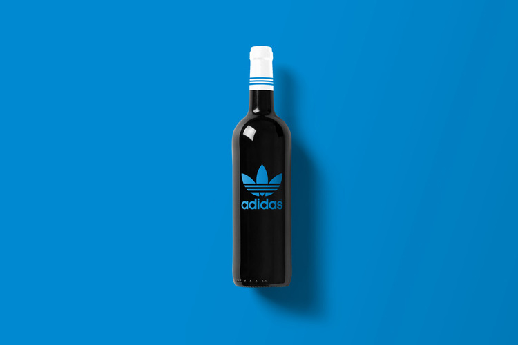 Branded Wine Bottles - if every brand had it's own wine, Adidas wine bottle