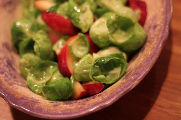 Brussel Sprouts and Apples with butter is a super tasty side to serve to steaks and roasts that you'll love. Get the recipe at Ateriet - Food Culture.