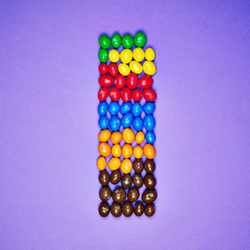 Colorful Candy Statistics by Tom Le French