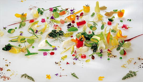 Fruit and Vegetable Collages by Photographer Julie Lee