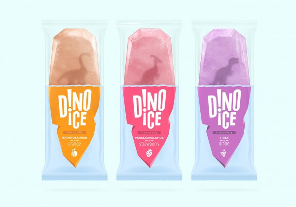 Dinosaur Popsicles inspired by Ice Age
